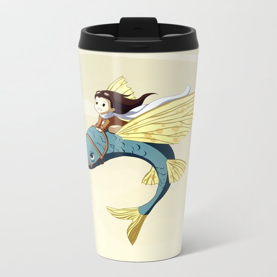 Flying Fish Metal Travel Mug