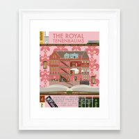 royal tenenbaums Framed Art Prints featuring The Royal Tenenbaums by Alan Segama