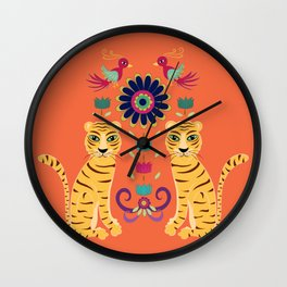Vintage Kitsch Indian Wall Clock