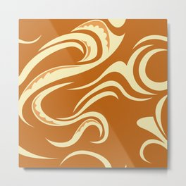 Paikea Orange Metal Print
