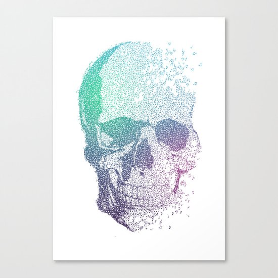 Music Skull Canvas Print