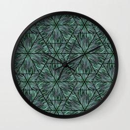 Ethnic ikat pattern. 4 Wall Clock
