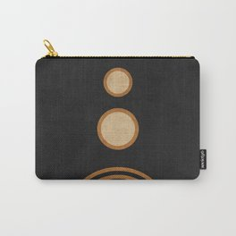 Secret Rambles - Minimal Geometric Abstract - Black Carry-All Pouch