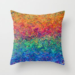 Fluid Colors G249 Throw Pillow
