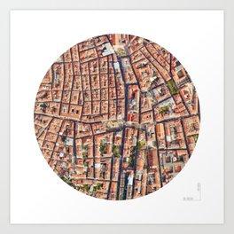 38-9_Lisbon_texture Art Print