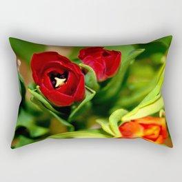 rubeum tulips Rectangular Pillow