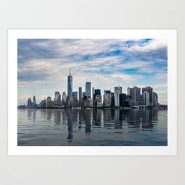 Dramatic skyline of New York City Art Print