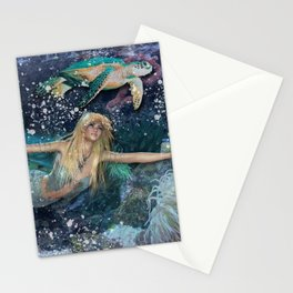 Mermaid and Turtle Stationery Cards