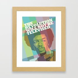 The revolution will not be televised Framed Art Print
