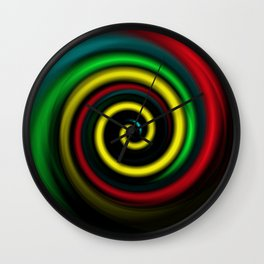 Swirling colours. Wall Clock