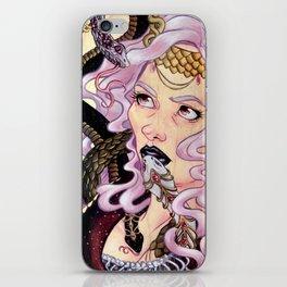 Snake Charmer skateboard painting iPhone Skin