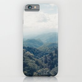 misty mountain morning iPhone Case