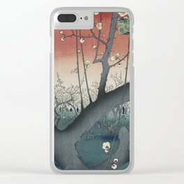 Utagawa Hiroshige, The Plum Garden at Kameido Shrine Clear iPhone Case