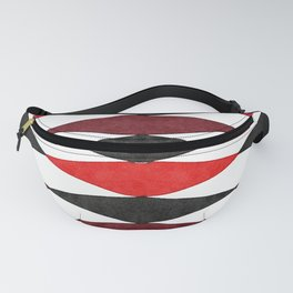 Harlequin Pattern in Watercolor - Mid Century Fanny Pack