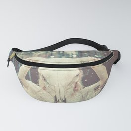 Bull Skull Tribal Woman Fanny Pack