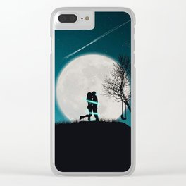 Moon of Love Clear iPhone Case