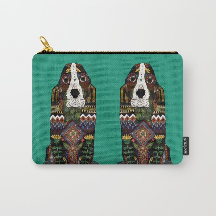 Basset Hound jade Carry-All Pouch