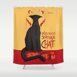 d'Electricité Statique Chat [Staticat] Shower Curtain