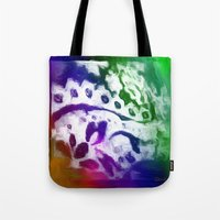 lace Tote Bags featuring Lace by Geni