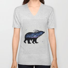 Milky Way Bear Unisex V-Neck