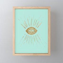 Evil Eye Gold on Mint #1 #drawing #decor #art #society6 Framed Mini Art Print
