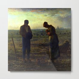 "Jean-François Millet ""The Angelus"" Metal Print"