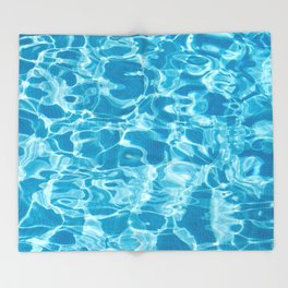 Geometric Pool Me - Retro Pool - Throw Blanket