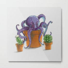 Cactopus or 'Octopus' Garden' Metal Print