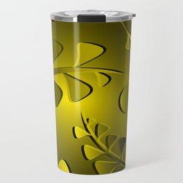 Golden black plants saffron grass mustard vintage style. Travel Mug