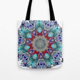 Vibrant and Colorful Mandala Kaleidoscope Digital Art Tote Bag