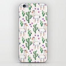 Llama Llamarama + Cactus iPhone Skin