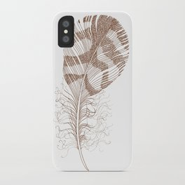 The Solitary Feather iPhone Case