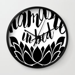 Namaste In Bed Wall Clock