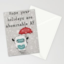 Abominable AF Stationery Cards