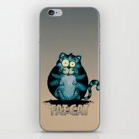 fat iPhone & iPod Skins featuring Fat Cat by mangulica