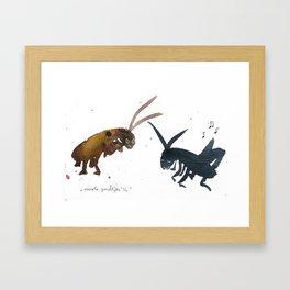 Cockroach and Cricket Framed Art Print