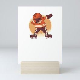Dabbing Hockey Player design - Hockey Lover Gift Kids Adult Mini Art Print