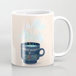Tomaté una Taza de Positividad (Nubes) Coffee Mug