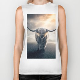 highland cattle scotland Biker Tank