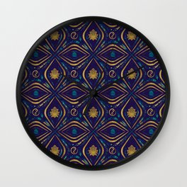 Lotus and OM symbol Luxury Pattern Wall Clock