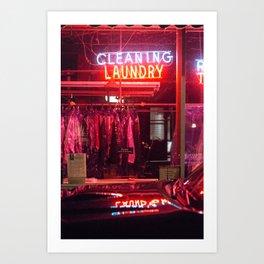 Neon Night Sign Art Print