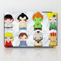 street fighter iPad Cases featuring A Boy - Street fighter by Christophe Chiozzi