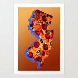 NJ Pizza Art Print