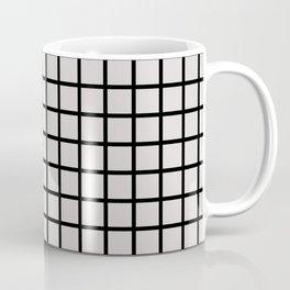 Foundry Black on Nude Grid Coffee Mug