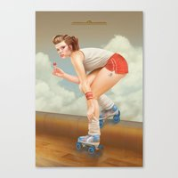 pinup Canvas Prints featuring Pinup by Morgan Soto