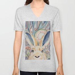 Bunny Moon Unisex V-Neck