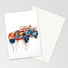Vintage BMW watercolor Stationery Cards
