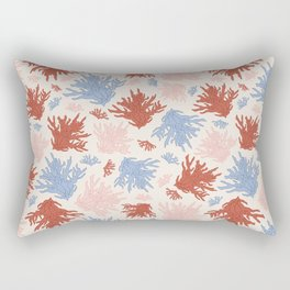 Shelly Beach Coral Print Rectangular Pillow