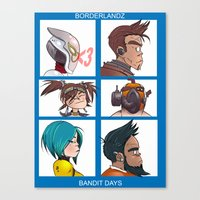 gorillaz Canvas Prints featuring Bandit Days by Philtomato