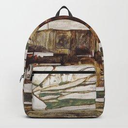 Egon Schiele - Stone on the Danube Backpack